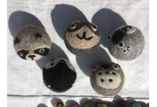 100 Pieces Needle Felted dryer or laundry balls 7cm