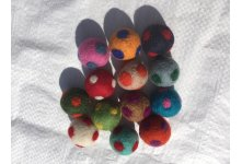 2cm Polka Felted Dot Felt balls 100 Pieces