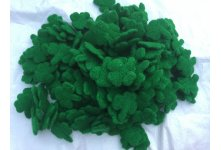 400 Pieces Handmade Needle Felted Shamrocks 6x6cm