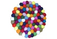 5 Pieces Multicolored 20cm felt trivet coaster