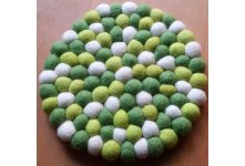 5 Pieces 20cm green felt trivet coaster