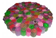 5 Pieces spiral 20cm felt trivet coaster