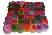 5 Pieces 10 cm felt spiral tea coaster