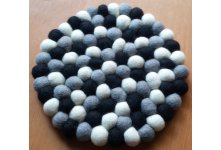 5 Pieces Three Colored 20cm Felt trivet coaster