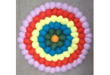 5 Pieces 20cm Felt trivet coaster