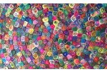 Spiral round felt ball rug