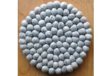 5 Pieces 20cm Natural felt ball trivet coaster