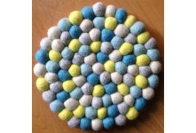 5 Pieces 20cm felt ball mat