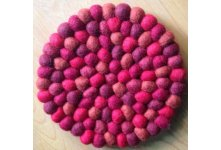 5 Pieces 20cm Felt ball trivet coaster