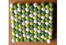 5 Pieces 20cm Square Felt ball trivet coaster