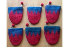6 Pieces Felt watemelon design purse