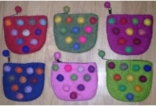 6 Pieces 10 ball coin purse