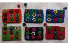 6 Pieces nine flower coin purse