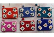6 Pieces Felt five star coin purse