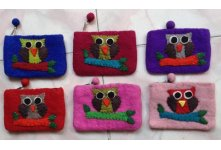 6 Pieces Felt owl design purse