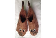 Felt dog design children shoes