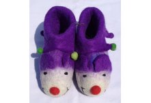 Felt monkey design shoes