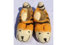 Felt tiger design shoes