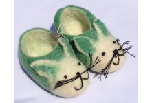 Felt cat design tinny shoes