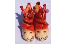 Felt tiger design children shoes