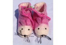 Felt mouse design children shoes