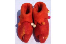 Felt elephant design shoes