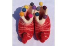 Felt elephant design baby shoes