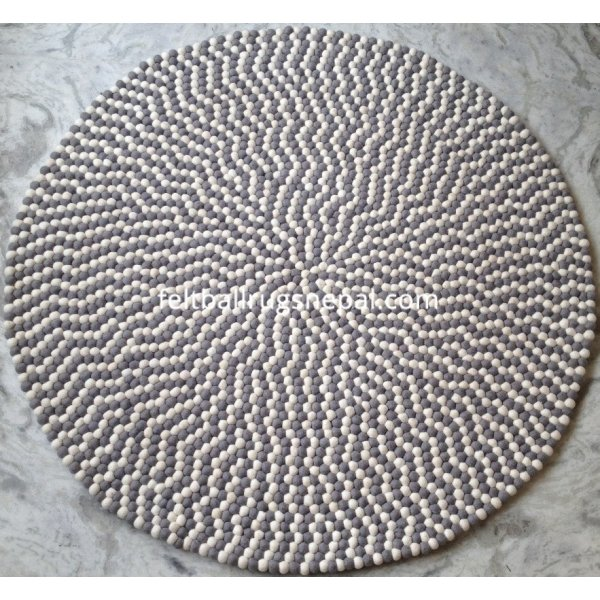 Round Gray Rug Rugs Ideas