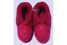 Felt spotted new born baby shoes
