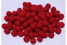 1000 Pieces 2cm  Red Color Felt Ball