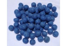 1000 Peaces 2cm blue felt balls