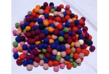 1000 Pieces 1cm Mixed Color Felt Ball