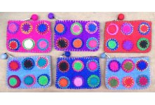 6 Pieces Felt chakka design purse