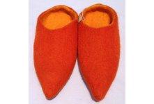 Felt orange colored slipper