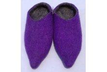 Felt purple colored slipper