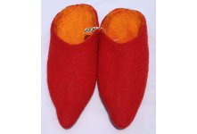Red colored felt slipper