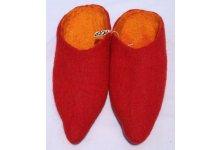 Red colored felt slipper