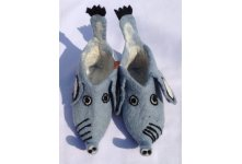 New elephant design felt children shoes