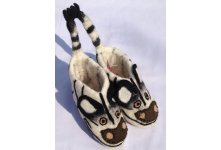 Felt zebra design shoes