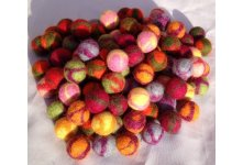 1000 Pieces 2cm mixed tyedye felt ball
