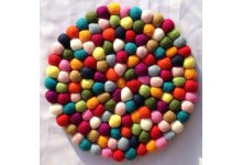 5 Pieces 25cm Felt ball mat