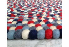 Mixed of 6 color round felt rug
