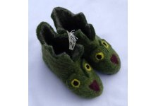 Felt owl design children shoes