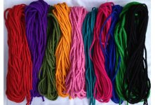 200 Meter Handmade mixed felt rope