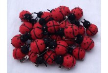 100 Pieces ladybug design brooch