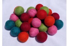 100 Pieces 3.5cm Mixed Felt Ball