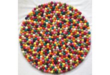 60cm Multi colored round felt ball mat