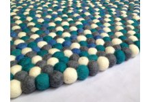 Marvelous round felt ball rug