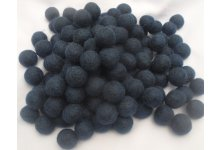 1000 Pieces 2cm navy blue felt ball