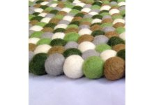 Unique Round Felt Ball Rug